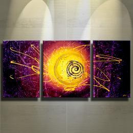 "Acrylgemälde Abstrakt ""Jaune"""
